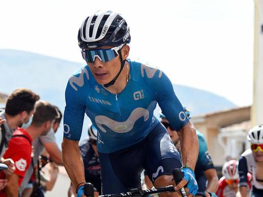 'Supermán' López ganó la etapa 18 de la Vuelta a España y se afianza en el podio.