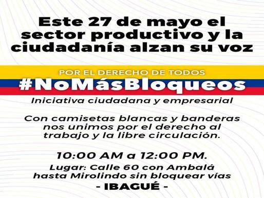 Así será la manifestación de hoy en la ciudad exigiendo No más bloqueos