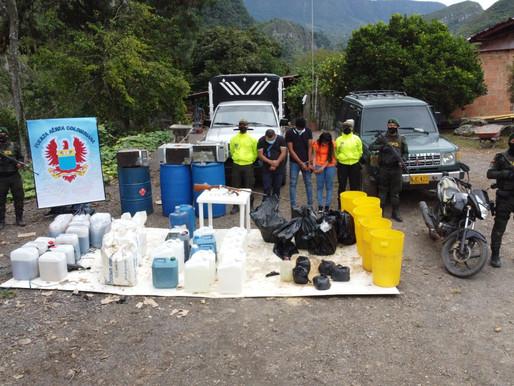 Desmantelan red que procesaba cocaína en el Tolima
