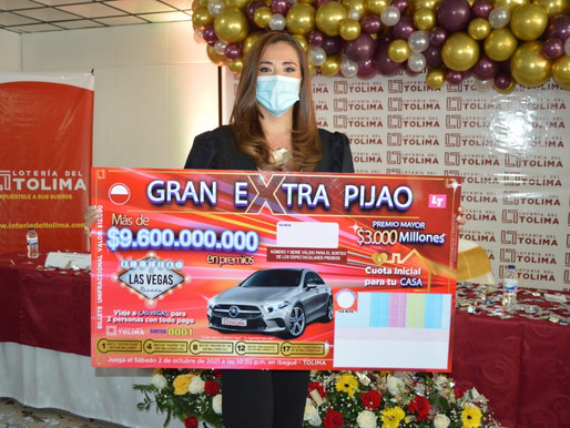 La Lotería del Tolima se la juega con su propio multimillonario sorteo extraordinario