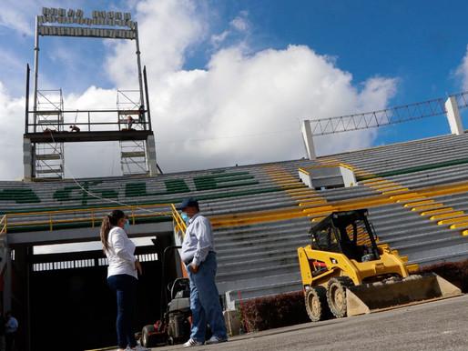 Avanza la instalación de la pantalla Led y sonido envolvente en el estadio Manuel Murillo Toro