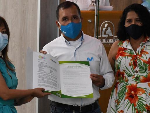 274 afiliados a Comfenalco Tolima recibieron Subsidio Familiar de Vivienda de Proyectos Integrales.