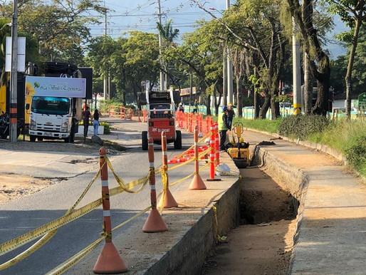 Prepárese para el contraflujo vehicular en la avenida Mirolindo por construcción del colector