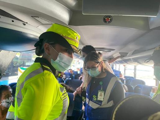Transito y transporte de la policía Tolima busca garantizar la seguridad a los viajeros en el puente