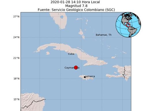 Sismo de magnitud 7,7 entre Cuba y Jamaica