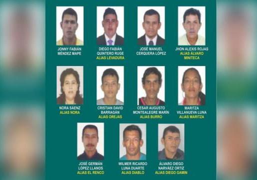 La Policía del Tolima reveló el cartel de los más buscados