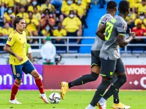 Colombia no pudo con Ecuador y completó 270 minutos sin marcar gol