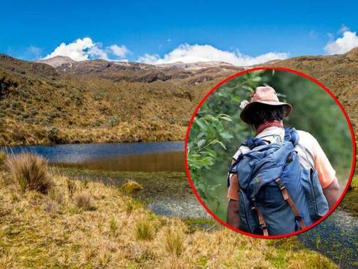 Excursionista que se perdió en el Parque de los Nevados apareció sano y salvo