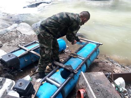 Siete capturados y destrucción de maquinaria por minería ilegal en Falan