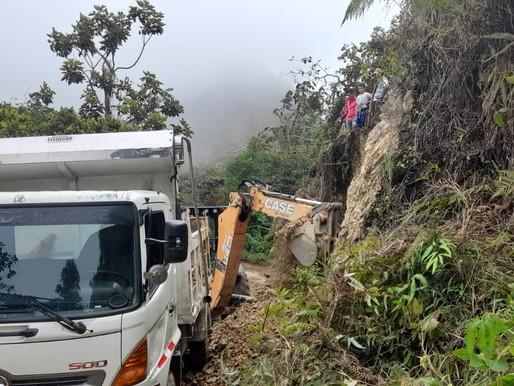 Cuatro veredas de La Martinica reportaron emergencias en sus vías debido a las lluvias