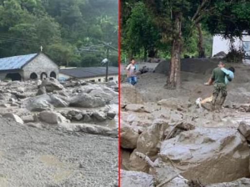 Desbordamiento de una quebrada en el sur del Tolima deja 8 personas desaparecidas