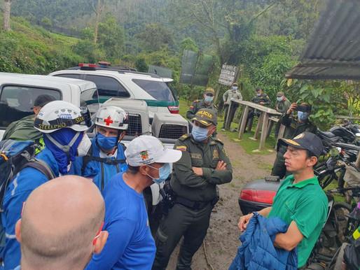 Organismos de socorro rescatan a montañistas extraviados en inmediaciones del Nevado del Tolima