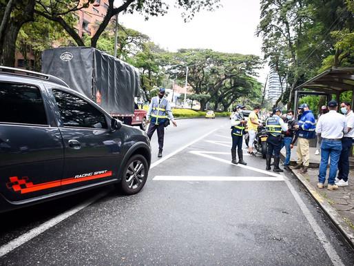 Durante la primera parte del 'Día sin carro y sin moto' 19 vehículos han sido inmovilizados