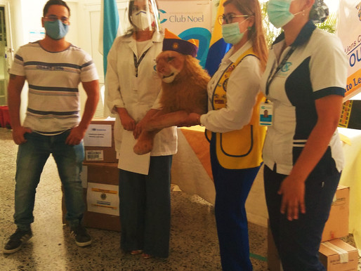 Clubes de Leones de Ibagué entregaron kits de bioseguridad, para hacer frente a la Pandemia