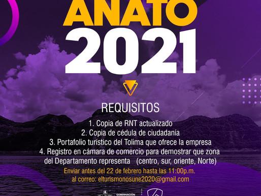Abren convocatoria dirigida a operadores turísticos para participar en Anato 2021
