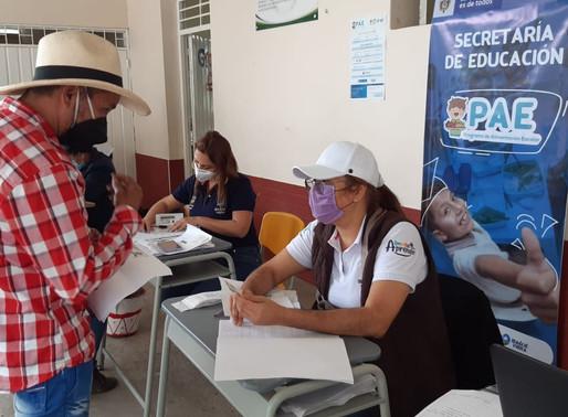Inicia entrega de bonos alimentarios del PAE a más de 5.000 estudiantes de la zona rural
