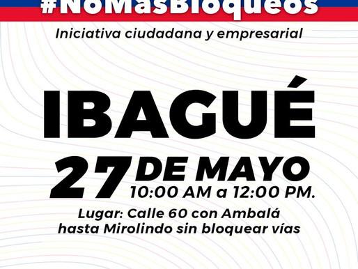 Este 27 de mayo gran movilización ciudadana y empresarial por la unidad y el no bloqueo de vías.