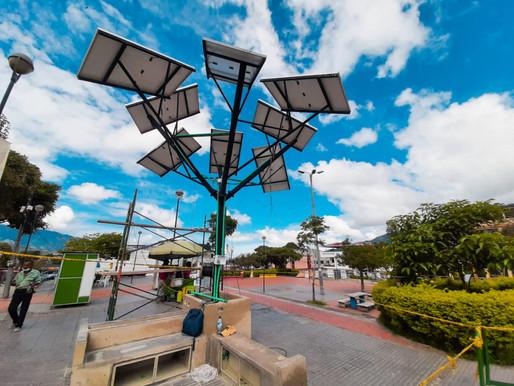 Habitantes de la comuna 12 contarán con un moderno árbol solar de energía renovable