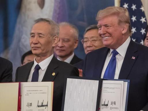 EE. UU. y China firmaron el acuerdo para frenar guerra comercial