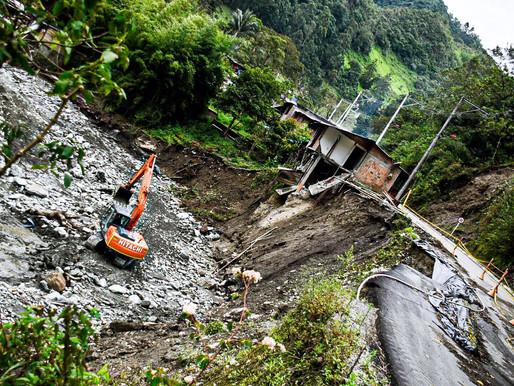 Autoridades de Ibagué realizan trabajos de mitigación del riesgo sobre el río Combeima