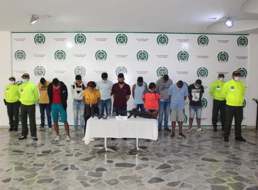 Autoridades desarticularon la banda delincuencial 'los Arroceros' en la comuna Ocho
