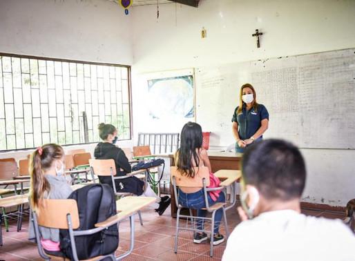 Con alternancia y de manera gradual, 108 estudiantes del sector rural regresarán a clases