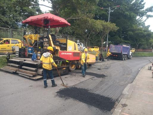 Realizan intervención vial en la avenida Ambalá y Guabinal
