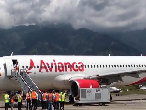 Avianca realizó el primer vuelo de prueba a Ibagué con avión para 120 pasajeros
