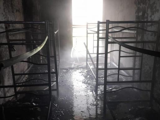 Organismos de socorro controlaron incendio en el comando de la Policía en Picaleña