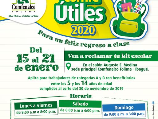 Comfenalco Tolima realizará Comfeútiles para un feliz regreso a clases.