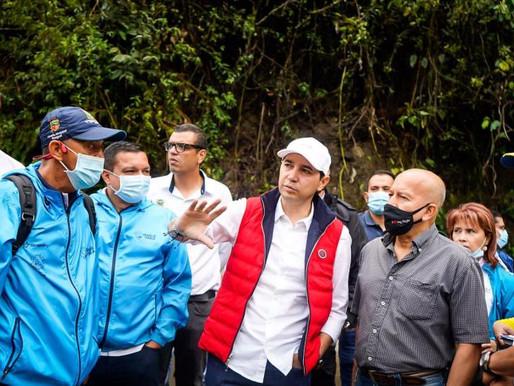 Alcaldía iniciará estudios técnicos para recuperar vías afectadas en el Cañón del Combeima