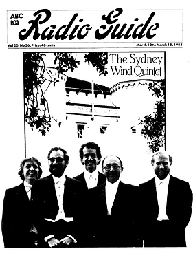 Sydney Wind Quintet on cover of the ABC Radio Guide