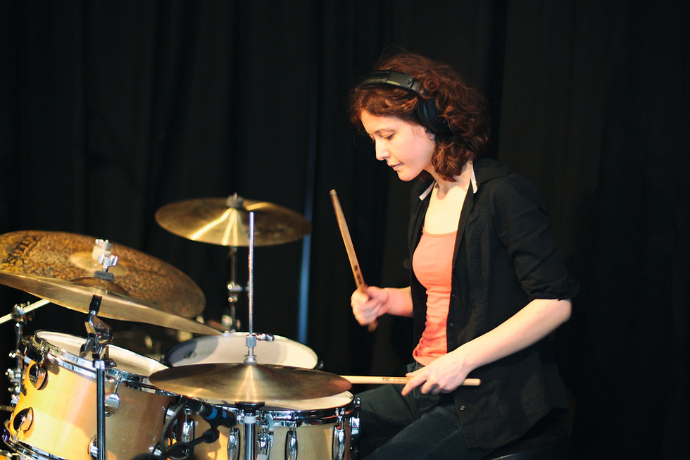Caroline Scott drummer London