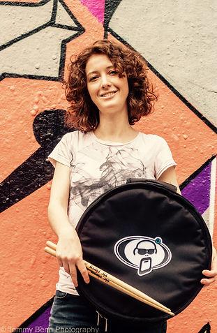 Female drummer London Caroline Scott