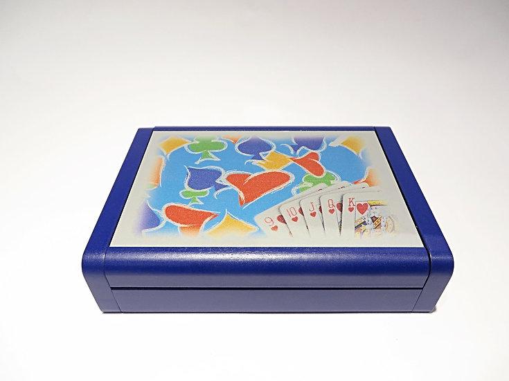 Scatola Porta Carte Dibond Blu