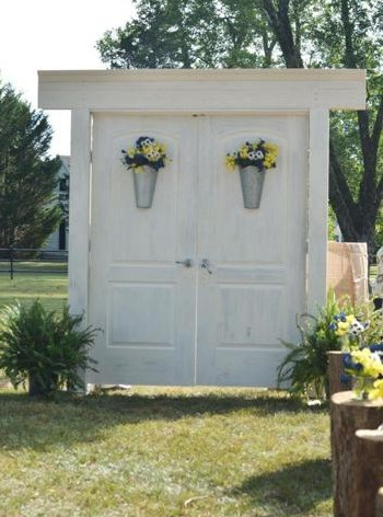 Floating Wedding Doors