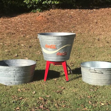 Galvanized Drink Tubs (set)
