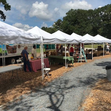 Market Booth (tent table chairs)
