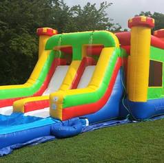 Wet Slide / Bounce House Combo