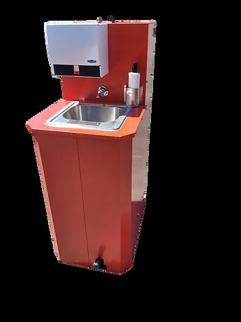 Portable handwashing station red