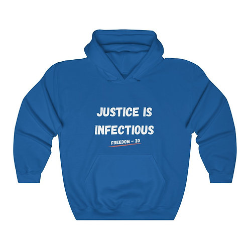 Justice IS Infectious (Freedom 20) - Unisex Heavy Blend™ Hooded Sweatshirt