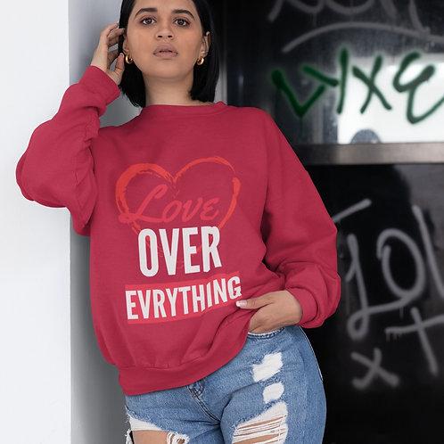 Love Over Everything - Unisex Heavy Blend™ Crewneck Sweatshirt