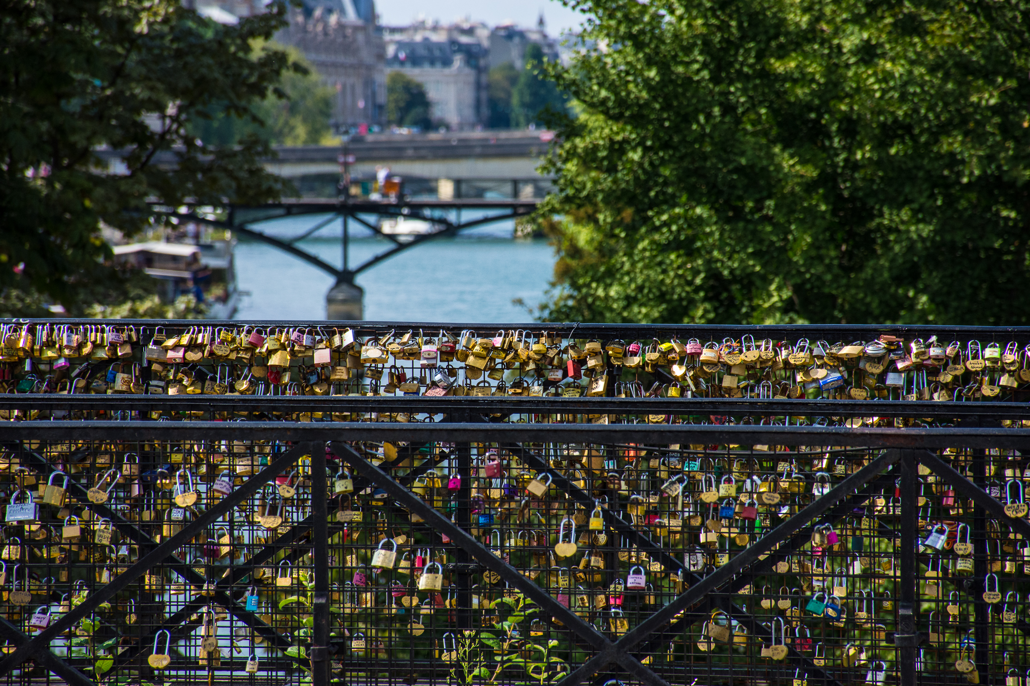 Locks of Love Bridge in Paris