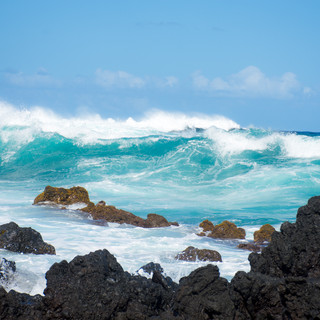 Lava Rock, Rocks, and Waves