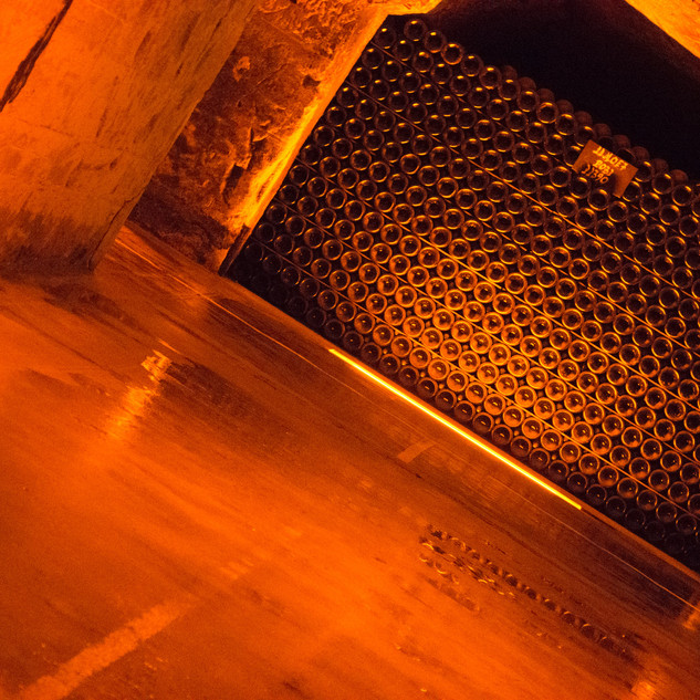 Champagne aging at Moet & Chandon