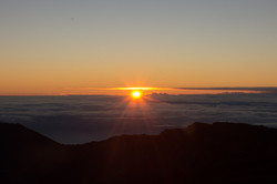Sun Peaking at Mount Haleakala