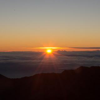 Mount Haleakala as the Sun Peaks