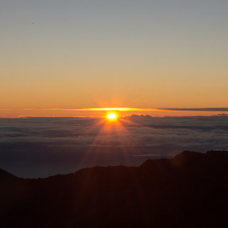 Mount Haleakala as the Sun Peaks
