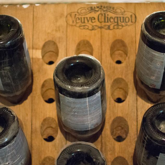 Veuve Clicquot Riddling Rack