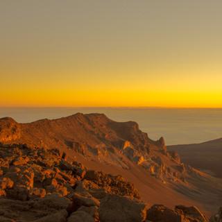 Mount Haleakala right at Sunrise